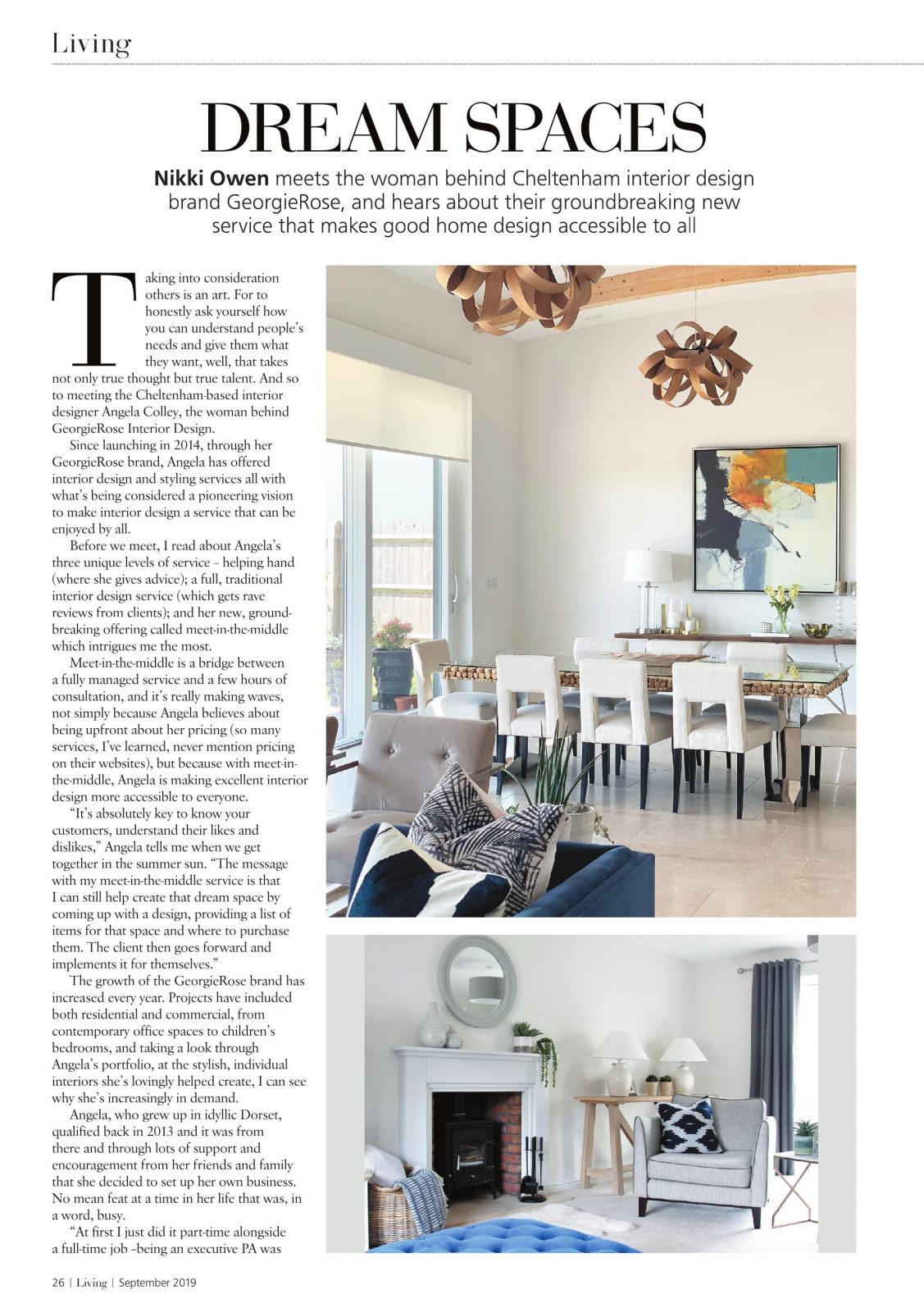 Cotswold Living Magazine Georgierose Interior Design Cheltenham